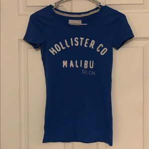 Blue hollister short sleeve